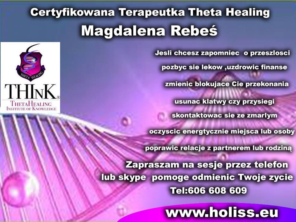 Theta Healing przez telefon,Skypa lub osobiscie